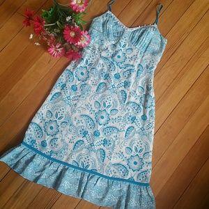 {Ann Taylor•The LOFT}Silk Sundress with Beading